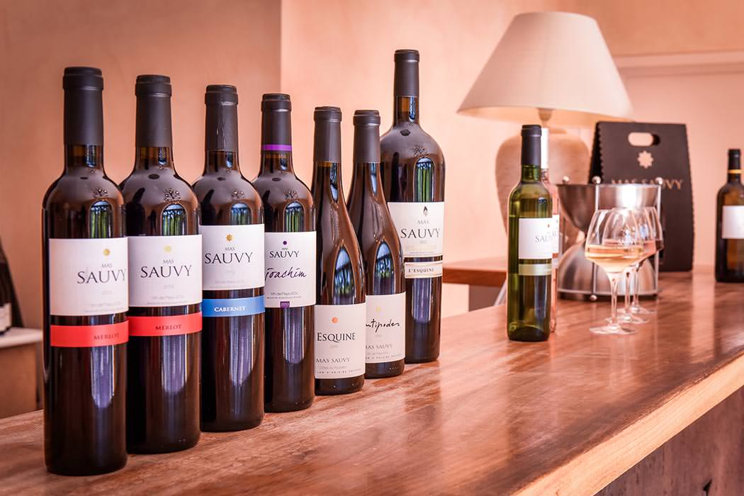 Gamme des vins du Mas Sauvy